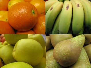 Las 4 frutas más importantes.