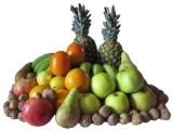 Las frutas, el jamón y el precio.