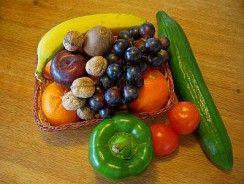 Frutas y verduras que contienen vitamina C.